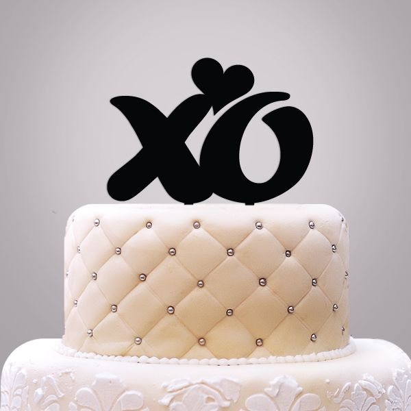 2519026--XO With Heart Cake Topper