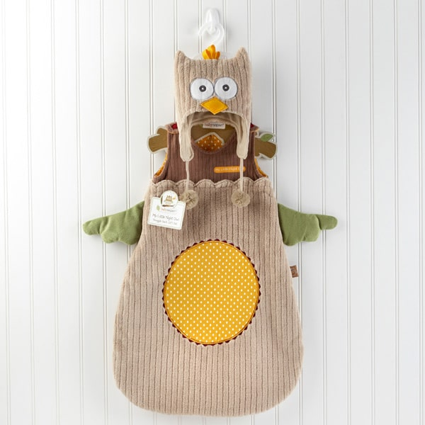 BA15002NA-My Little Night Owl Snuggle Sack And Cap-Personalization is available at an additional cost--