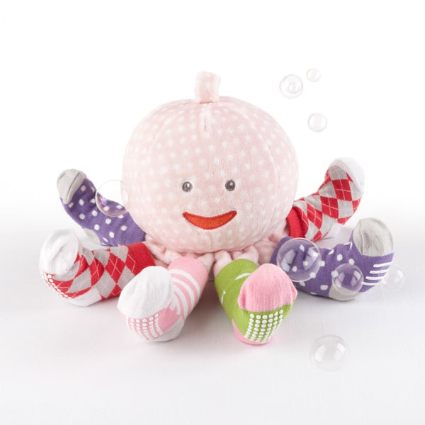 BA15004PK-Mrs. Sock T. Pus Plush Plus Octopus With 4 Pairs Of Socks--Pink-