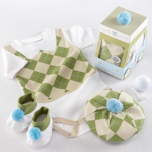 BA16016NA-Sweet Tee 3 Piece Golf Layette Set In Golf Cart Packaging---