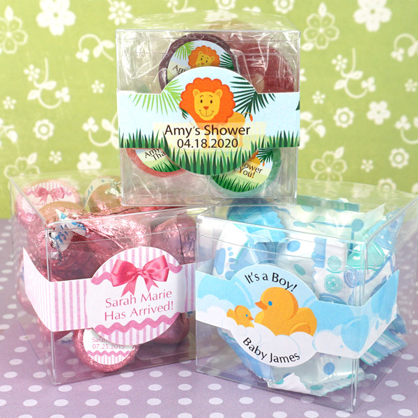 3073100--Baby Shower Clear Favor Boxes 2 X 2 X 2