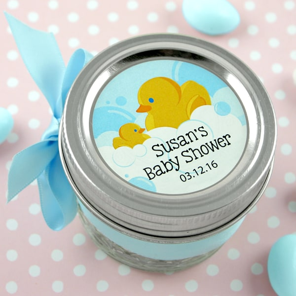 3703100--2 Inch Circle Baby Favor Label Set Of 15