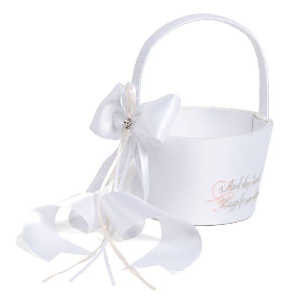 Fairy tale dreams flower girl basket elegant weddings mightylinksfo