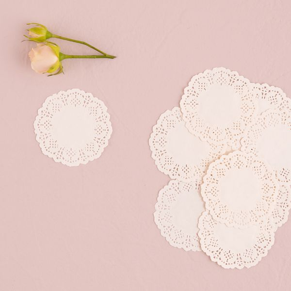 White Lace Paper Doilies White