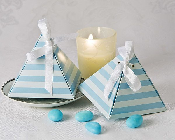 Something Blue Pyramid Favor Box 24 Pack