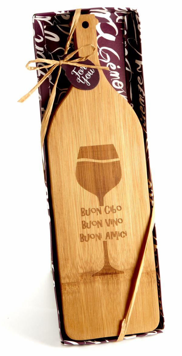 Buoni Amici Wine Bottle Shaped Cheese Appetizer Board