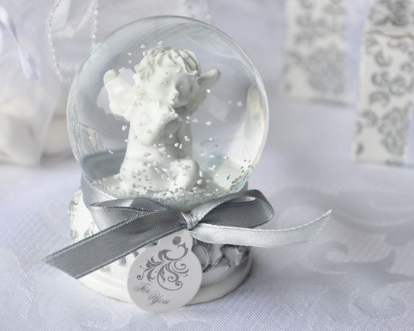 Angel Kisses Cherub Snow Globe Favor