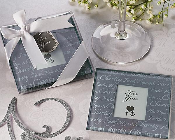 Faith, Hope & Charity Photo Coasters Set Of 2
