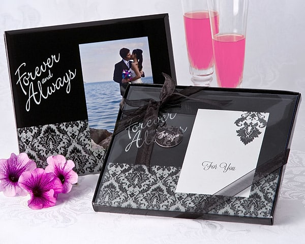 Forever & Always Damask Photo Frame Favor