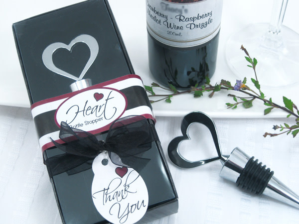 Brilliant Heart Bottle Stopper In Designer Gift Box