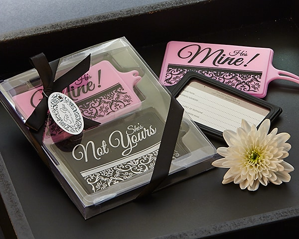 Mine Not Yours His & Hers Luggage Tag Set