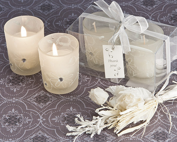 Sparkling Floral Votive Candle Set In Display Box