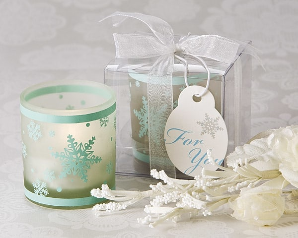 Winter Lights Snowflake Tea Light Candle Holder Pack Of 4