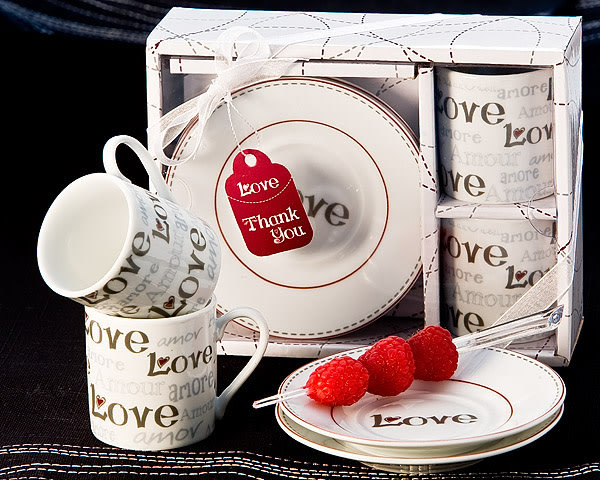 Language Of Love Espresso Cup Favor Set