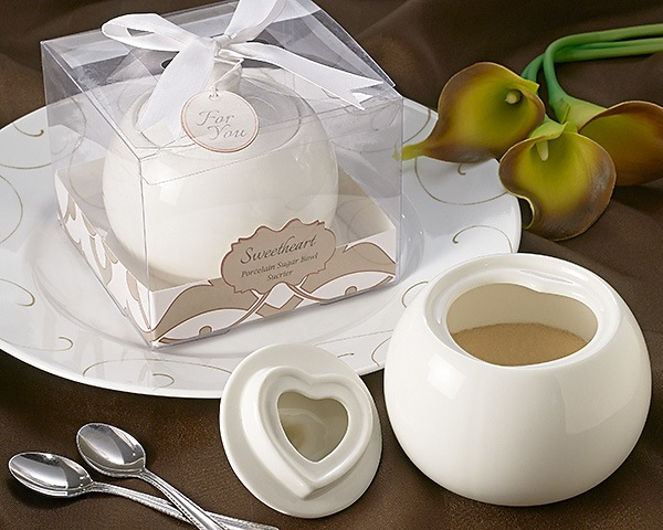 Sweetheart Porcelain Sugar Bowl Favor