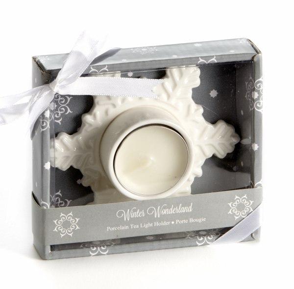 Winter Wonderland Porcelain Tea Light Candle Holder