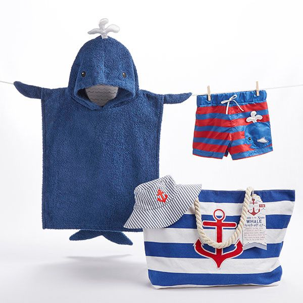 BA11053NA-Fun In The Sun 4 Piece Nautical Gift Set With Canvas Tote For Mom---
