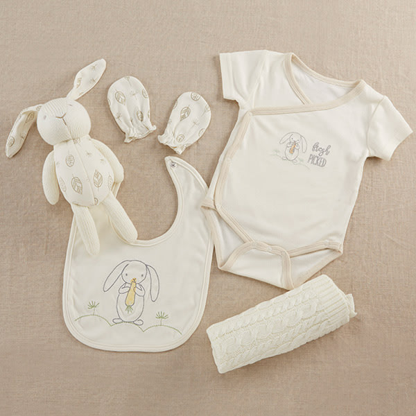 BA11064NA-Natural Baby 5 Piece Welcome Home Gift Set---