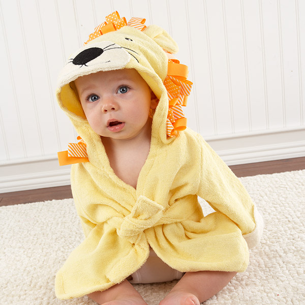 BA14011NA-Big Top Bath Time Lion Hooded Spa Robe---