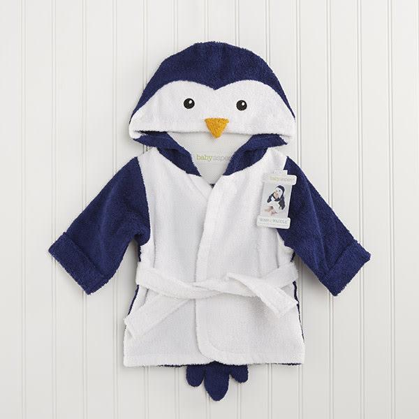 BA14022NA-Wash & Waddle Penguin Hooded Spa Robe---