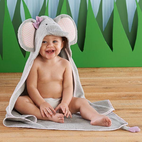 BA14031NA-Splish Splash Elephant Bath Spa Hooded Towel---