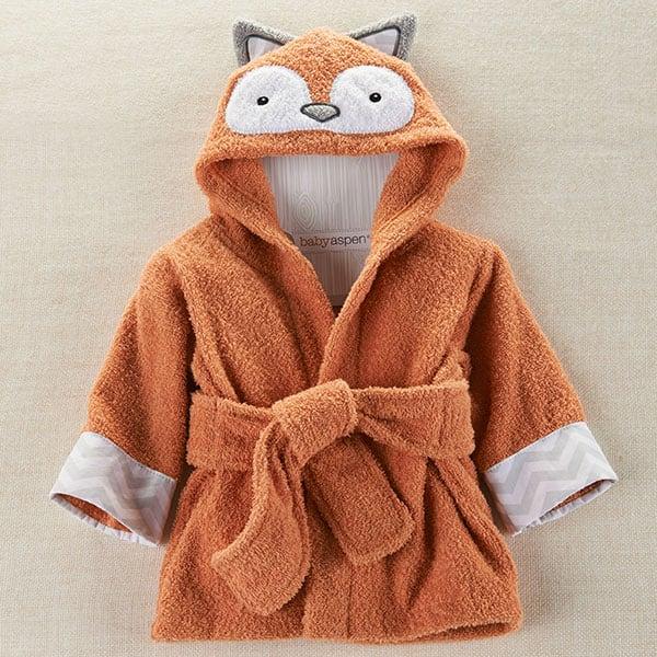BA14035NA-Rub A Dub, Fox In The Tub Hooded Spa Robe---