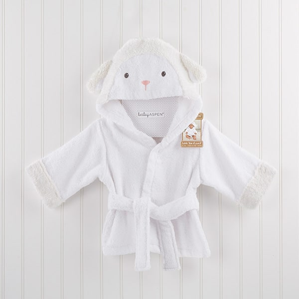 BA14048NA-Love You Lamb Hooded Spa Robe-personalized for an additional charge--