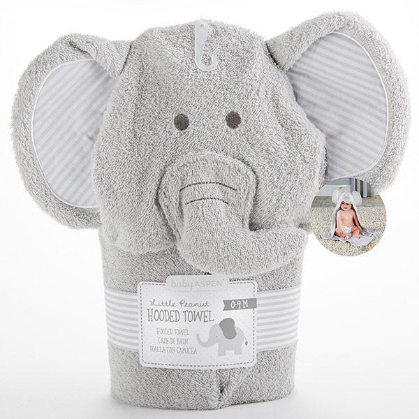 BA14060GR-Little Peanut Elephant Hooded Spa Towel--