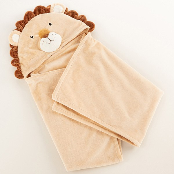 BA14067NA-Lion Hooded Blanket---