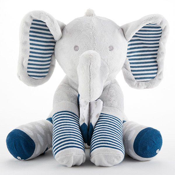 BA15181BL-Louie The Elephant Plush Plus Socks For Baby---