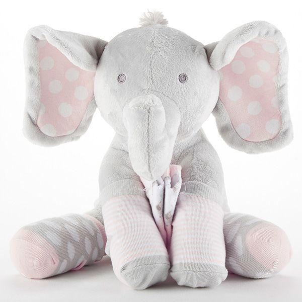BA15181PK-Lilly The Elephant Plush Plus Socks For Baby---