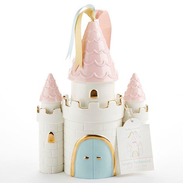 BA21021NA-Simply Enchanted Ceramic Castle Bank-