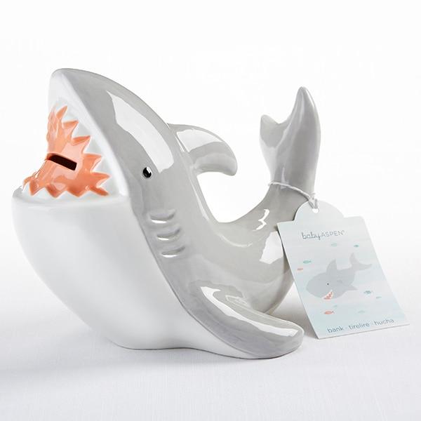 BA21025NA-Ceramic Shark Bank---
