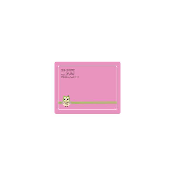 EB3002PWL-Pink Owl Return Address Labels