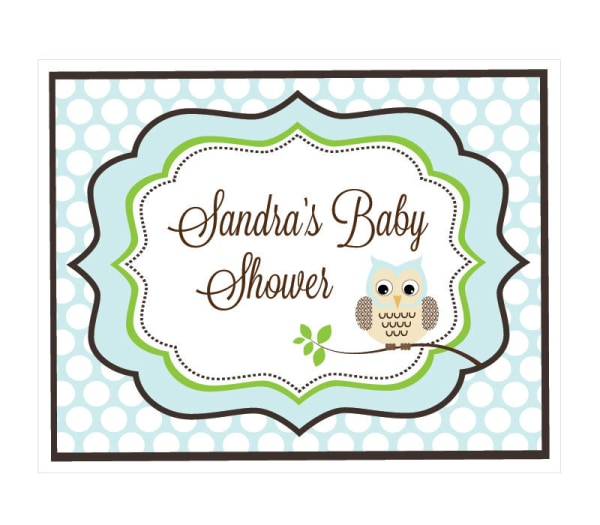 EB3003BWL-Blue Owl Party Sign