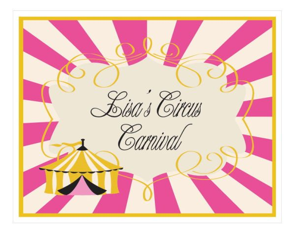 EB3003PKC-Pink Circus Party Sign