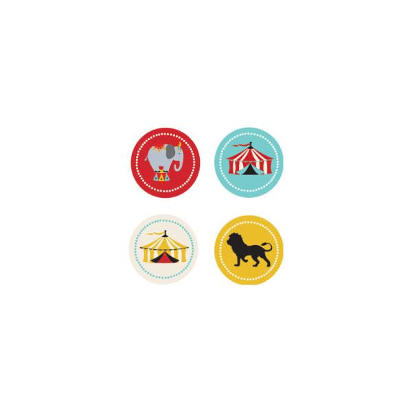 EB3004CC-Circus Carnival Party Decorative Mini Stickers Set Of 32