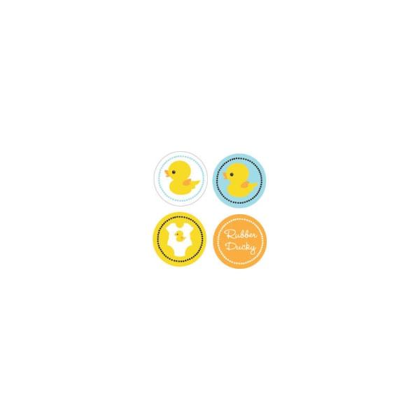 EB3004DUC-Rubber Ducky Decorative Mini Stickers Set Of 32