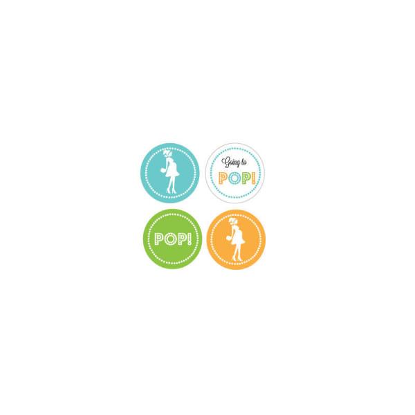 EB3004GPB-Decorative Mini Stickers Set Of 32