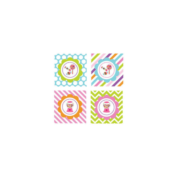 EB3005SH-Sweet Shoppe Party Decorative Favor Tags Set Of 20