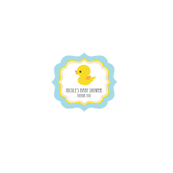 EB3020DUC-Rubber Ducky Frame Personalized Labels