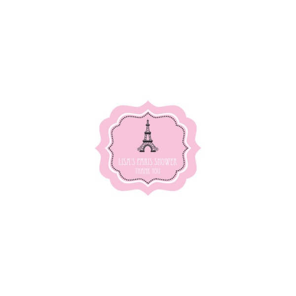 EB3020PP-Parisian Party Frame Personalized Labels