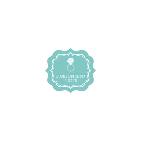 EB3020SB-Something Blue Frame Personalized Labels