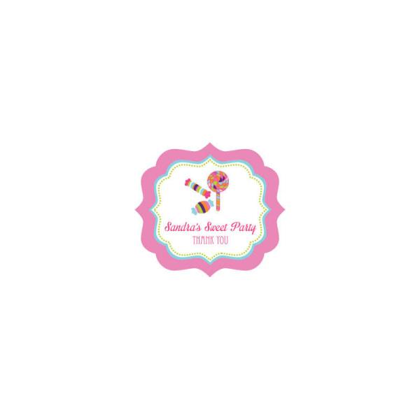 EB3020SH-Sweet Shoppe Frame Personalized Labels