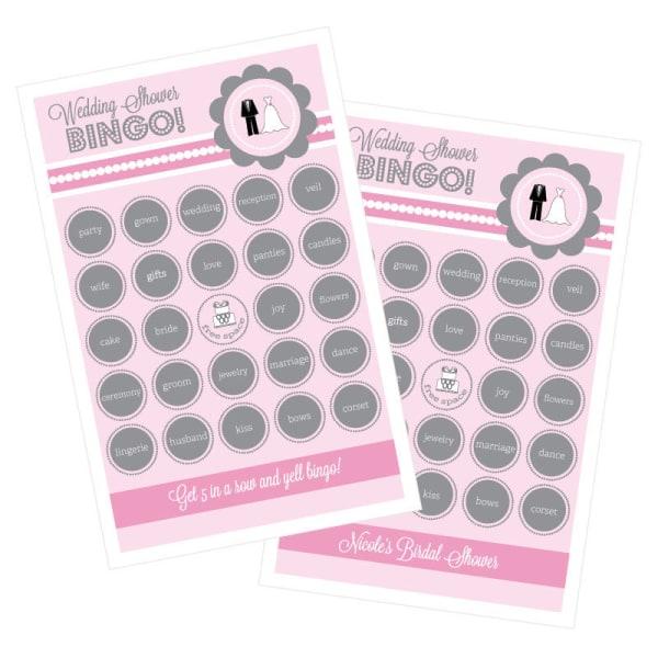 EB3021WS-Wedding Shower Bingo Set Of 16