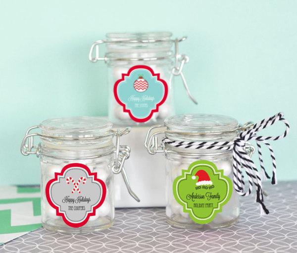 EB3023W-Personalized Winter Glass Jar With Swing Top Lid Mini