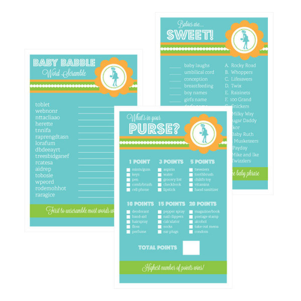 EB3027GPB-Baby Shower Games Set Of 10