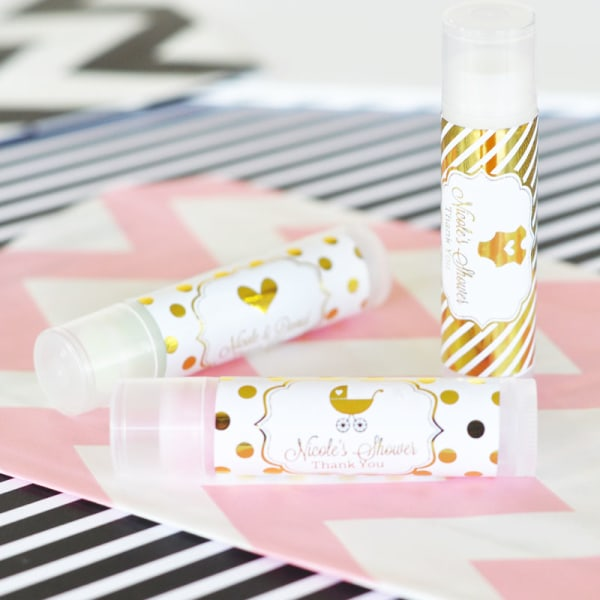 EB3031FB-Personalized Metallic Foil Lip Balm Tubes Baby