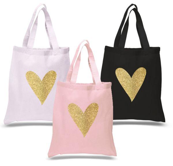 EB3127HRT-Glitter Heart Tote Bag