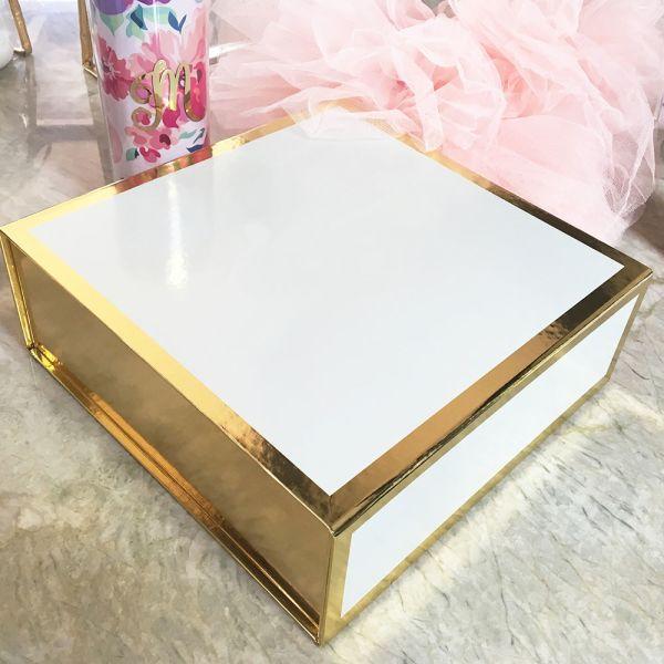 EB3171NP-Blank White & Gold Gift Boxes